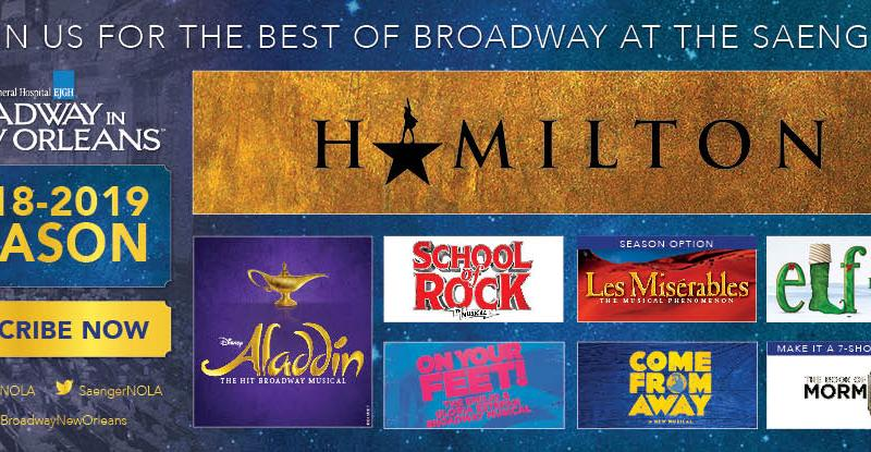 2018 – 2019 Broadway in New Orleans Season Announced at Saenger Theatre