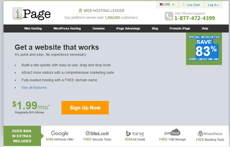 Ipage web hosting untuk wordpress murah
