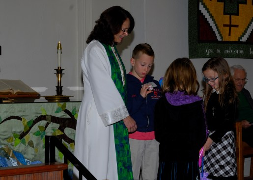 Rev. Nancy Bacon, our new Transitional Co-pastor