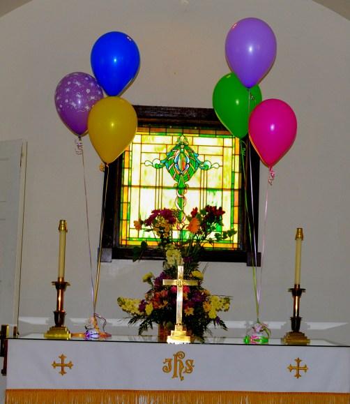 A festive Communion table