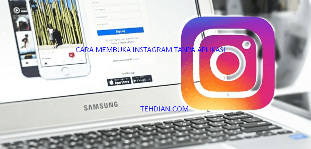 Masuk instagram tanpa aplikasi