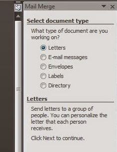 default mail merge letters