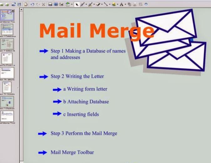 Pengertian dan fungsi mail merge