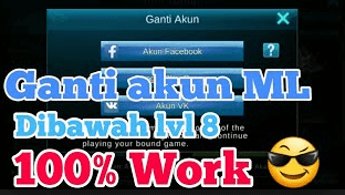 cara ganti akun mobile legends
