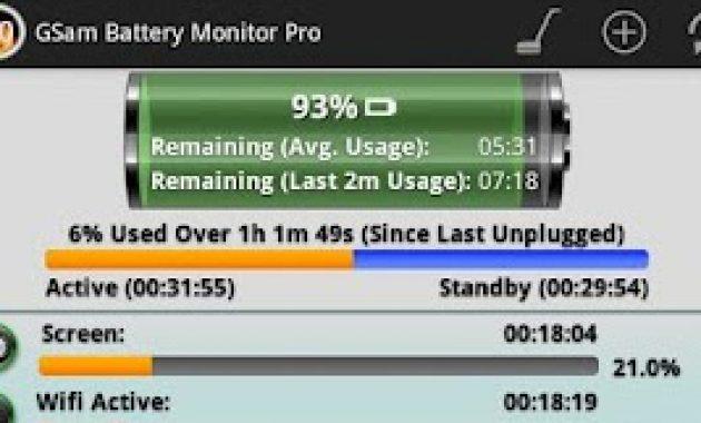 Gsam baterai monitor