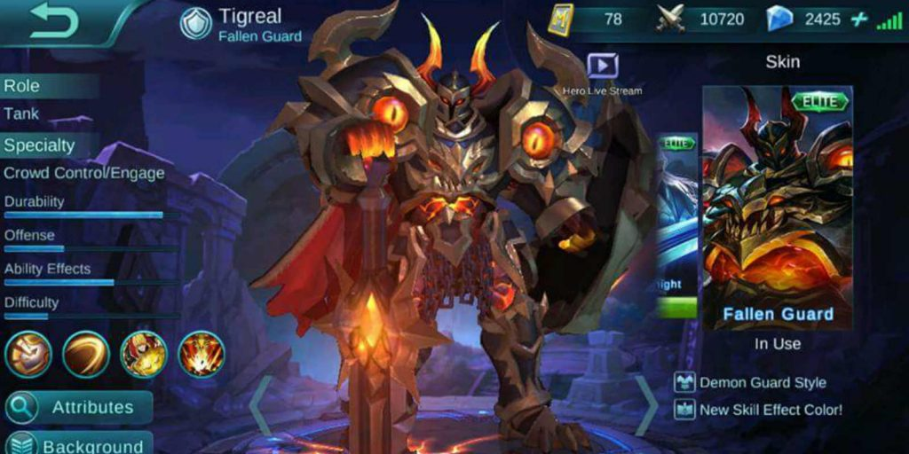 build tigreal terkuat