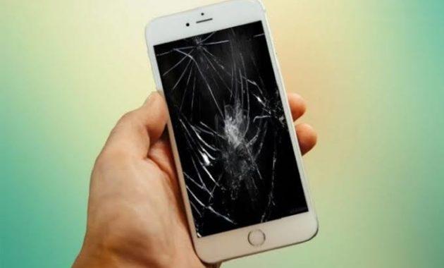 Lcd Hp iphone pecah karena jatuh