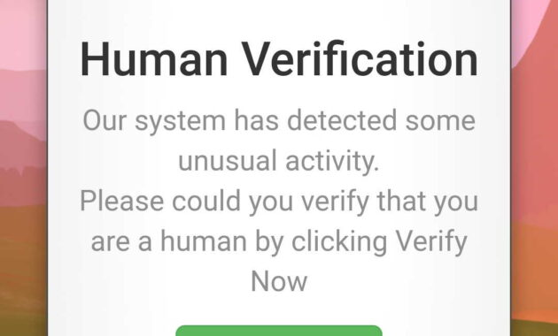Masuk Human Verifikasi