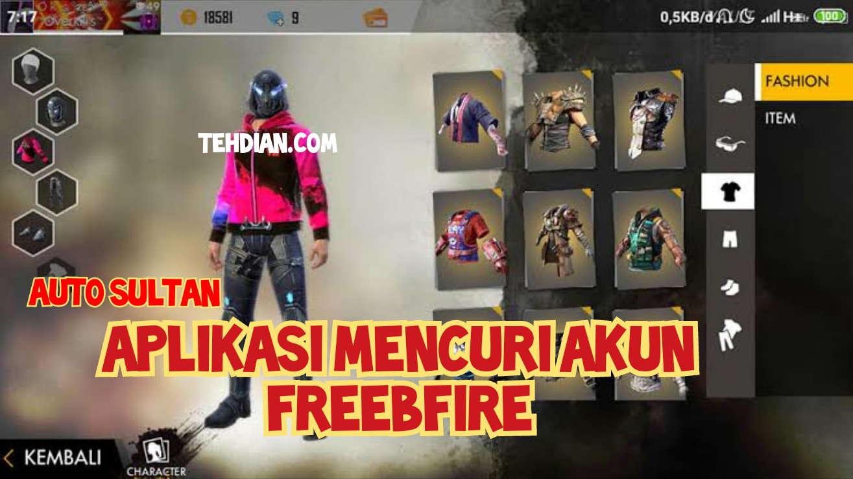 Aplikasi mencuri akun Free fire