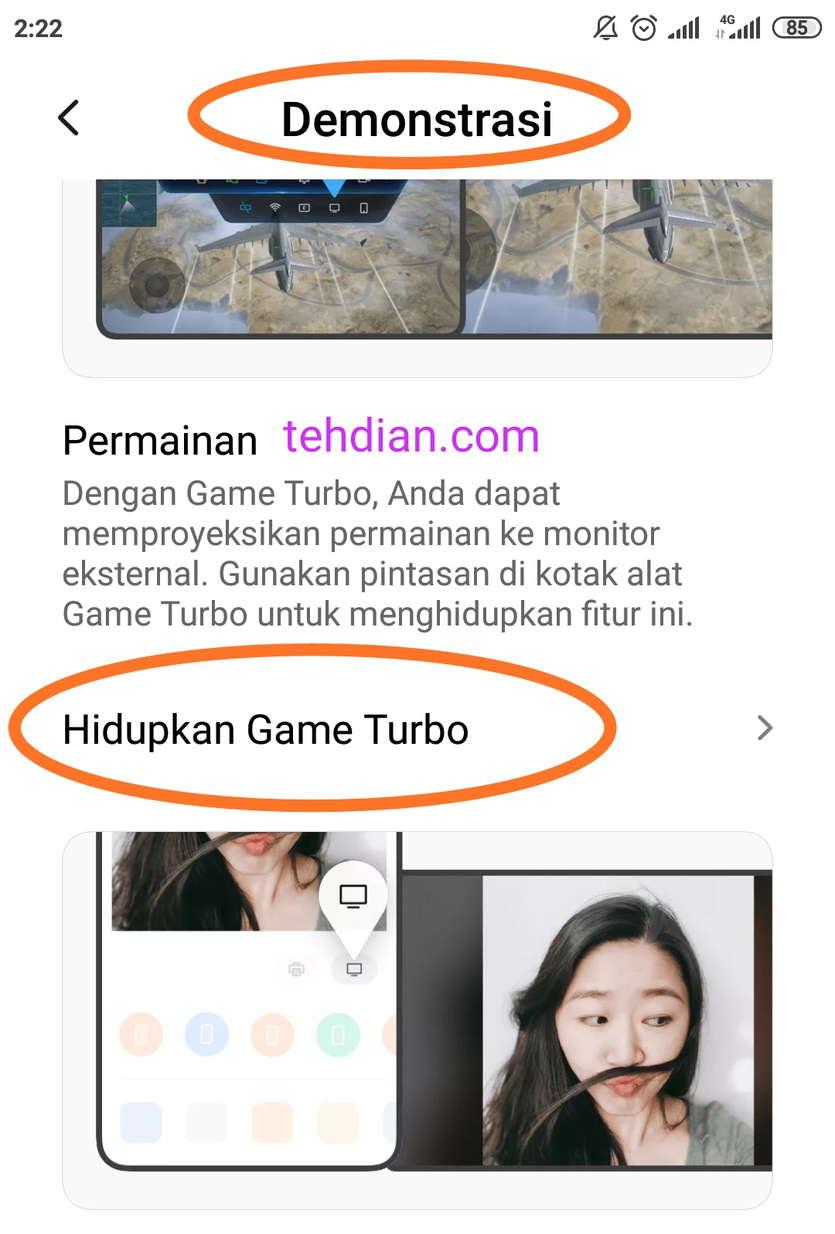 Cara mengaktifkan Game turbo di Xiaomi