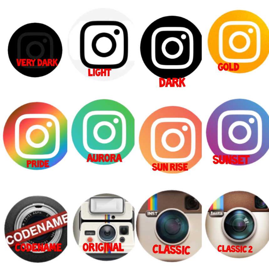 Cara mengganti Ikon Instagram