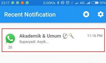 pesan yang dihapus dapat dilihat di aplikasi recent notification