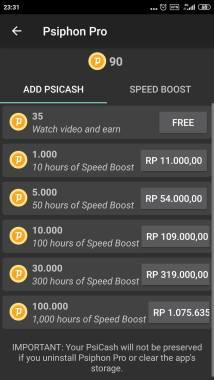 Menambah kecepatan psiphon pro