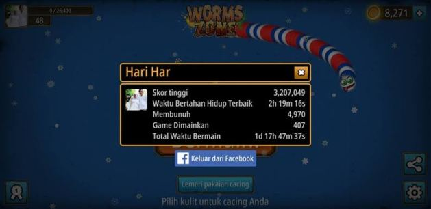 Mabar worms zone di instant facebook