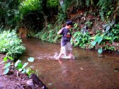 Walking in the river