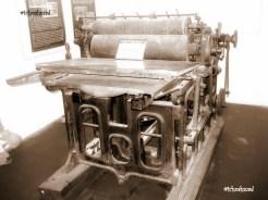 Old printing press at Banten Lama Museum