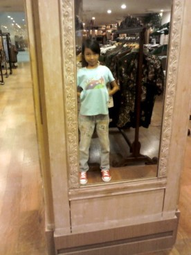 My daughter in the mirror