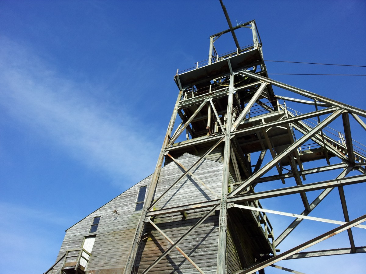 Geevor, near Pendeen, one of Cornwall's last mineral mines.