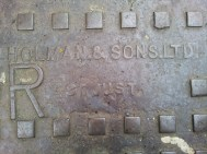 Detail of maker's mark, Holman and Sons Ltd, St Just