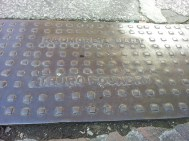 Culvert cover by Radmore and Dart Truro Foundry, opposite Truro Cathedral at King Street.