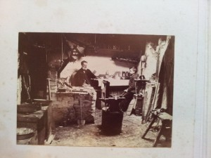 Preparing for digitisation: Record photograph from an album in the Elizabeth Treffry Collection, Hypatia Trust.