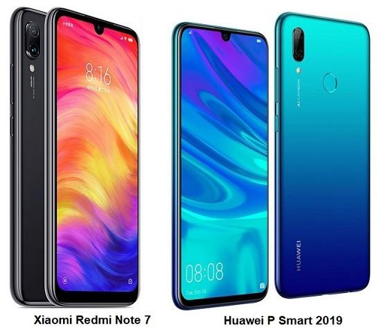 Xiaomi Redmi Note 7 vs Huawei P Smart 2019