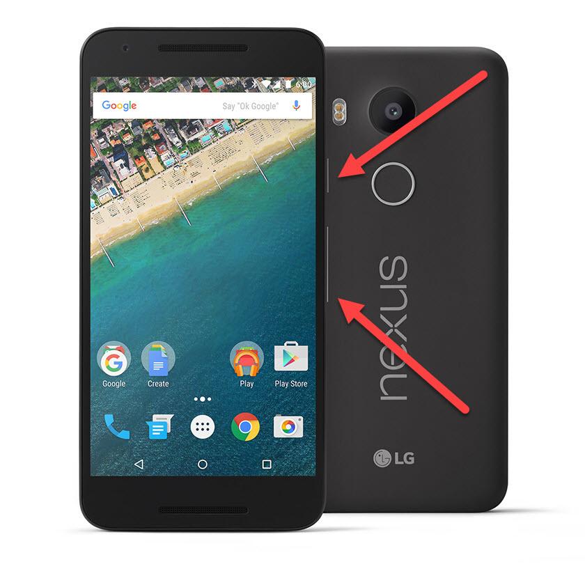 พลังงานของ Google Nexus และระดับเสียงลง