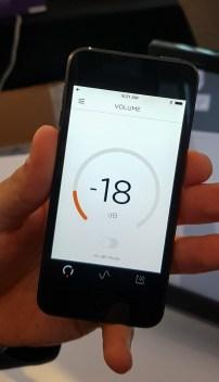 Z aplikacijo za Here One je mogoče utišati ali ojačati zvok iz okolice in ga filtrirati.
