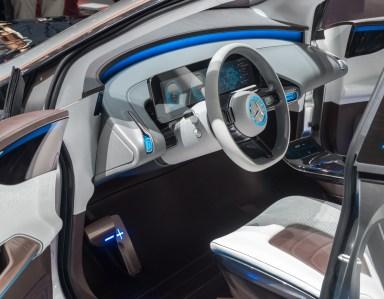Notranjost konceptnega Mercedesa Generation EQ.