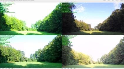 Prehod med senco in nebom je najlepše opravil Yi 4K, presenetljivo blizu pa mu pride Thieye i60, razočarata pa i30 in Mokacam, ki celo nebo praktično pustita belo. Na srečo imajo vse kamere možnost pod/nadosvetlitve, kar zna rešiti tak posnetek.