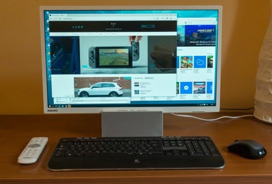 Lahko je tudi priložnosten ali kar stalni monitor za PC.