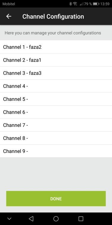 Pomembno pa je, da so faze pravilno definirane po kanalih ter usklajene s merilnimi mesti za merjenje napetosti (na konektorju so označeni priključki za fazo 1,2 in 3.