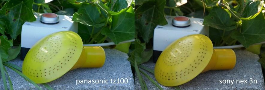Globinske ostrine in detajlov je malo manj, aparat pa osvetlitev raje poveča kot pomanjša.