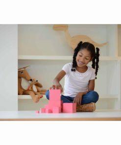 The pink tower - Nienhuis Montessori