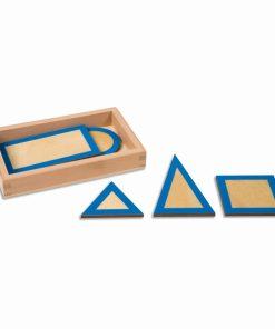 Geometric plane figures with box - Nienhuis Montessori