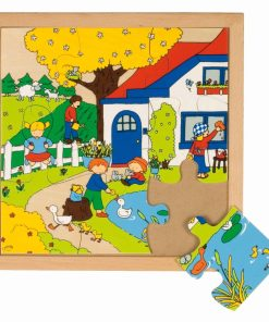 Seasons puzzle: spring (9 pieces) - Educo