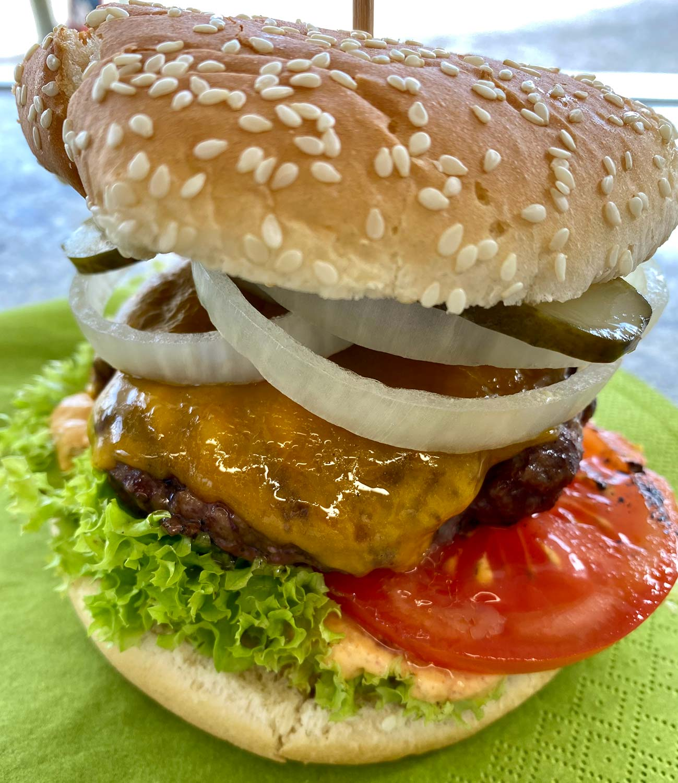 Burger  im Teichhaus Restaurant Bad Nauheim