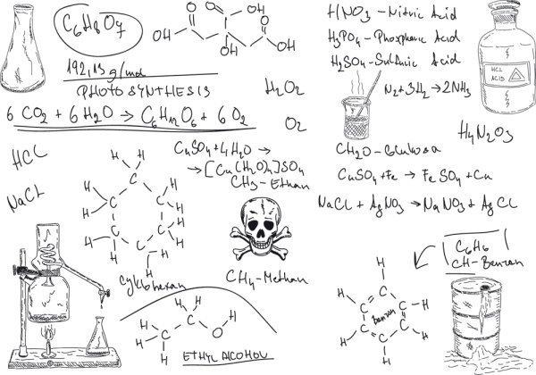 危険物甲種の物理化学のイメージ図。