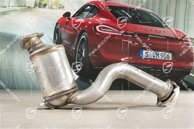 teile com exhaust pipe with catalytic converter cyl 4 6 hybrid new cayenne 958 202 00 exhaust system 958113021bx