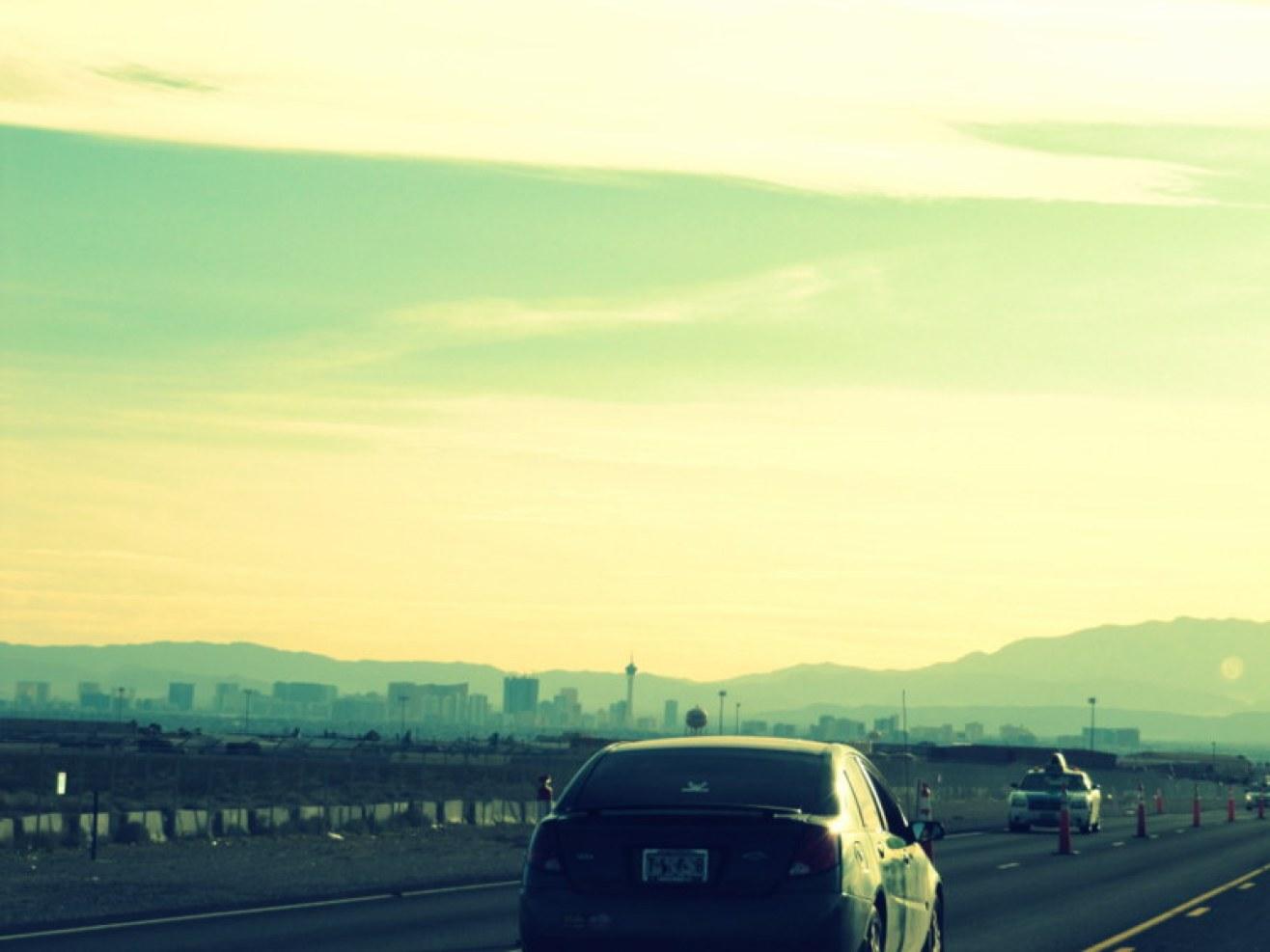 Las Vegas aus der Ferne