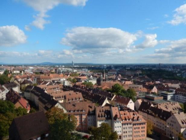Grandiose Aussicht über Nürnberg