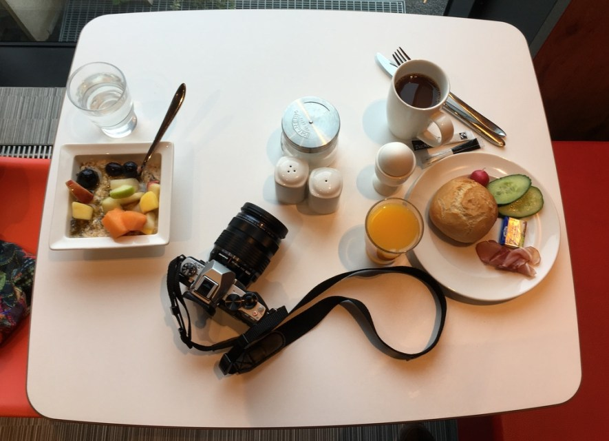 Ein Frühstück. Kurz Mal