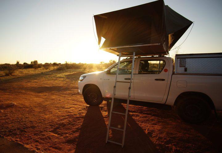 Camper mit Dachzelt Namibia Toyota Hilux