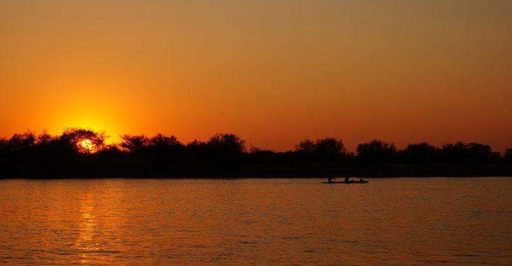 Sonnenuntergang Kavango River Hakusembe