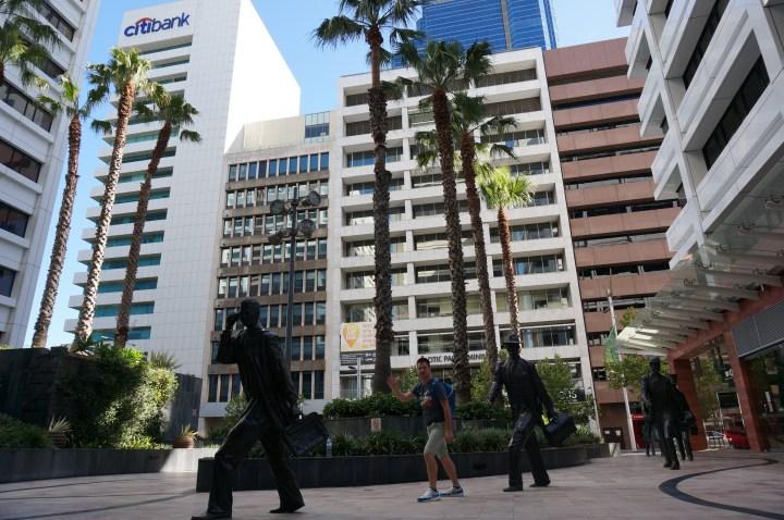 Geschäftsviertel Perth