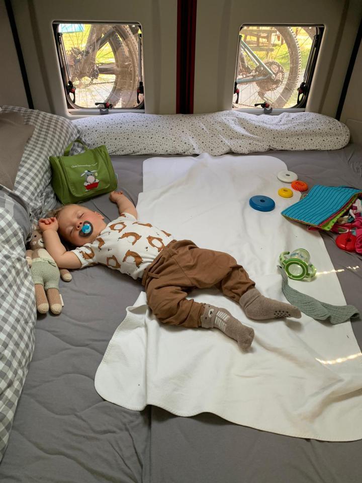 Wo schläft Baby im Camper
