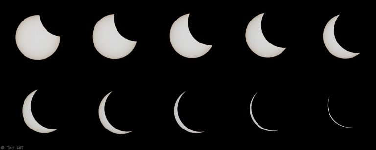 2017 Solar Eclipse Phases
