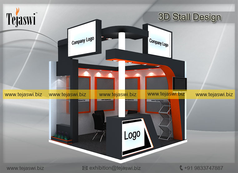 Exhibition Stall Photo : 3 meter x 3 meter 3d exhibition stall design and construction ec