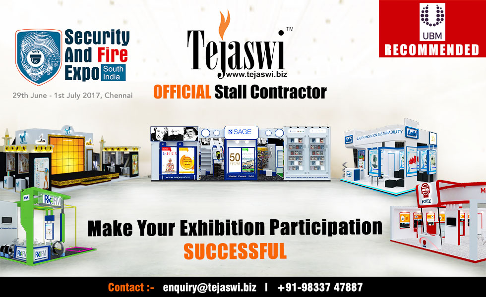 Security & Fire Expo Official Exhibition Stall Designer Chennai #SAFEX