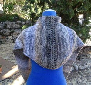 chal-bufanda tejido dos agujas